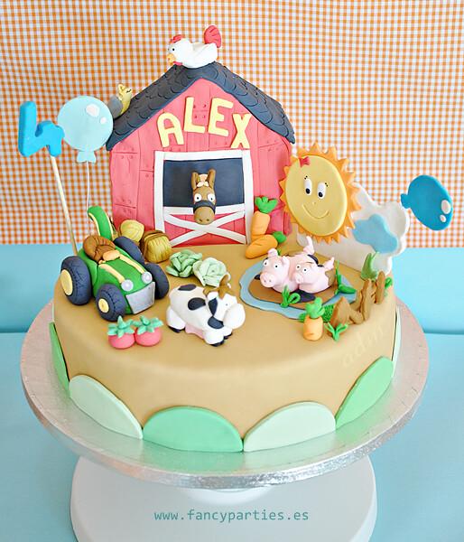 Pleasing Farm Tractor And Animals Birthday Cake 1 6 Farm Cake For Flickr Funny Birthday Cards Online Benoljebrpdamsfinfo