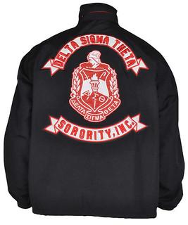 Delta Sigma Theta All Weather Jacket-Black-Back | Buffalo