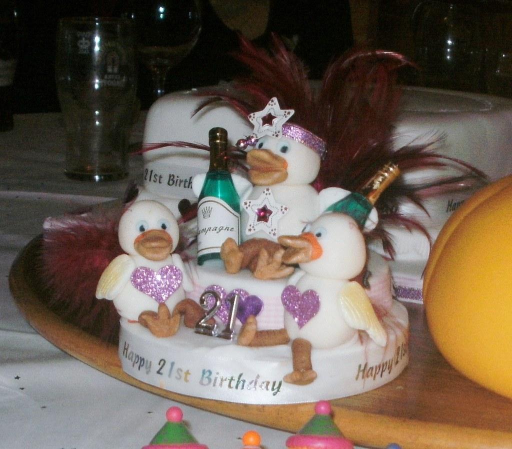 Swell 21St Birthday Cake Topper Drunken Ducks On A 21St Birthday Flickr Funny Birthday Cards Online Ioscodamsfinfo