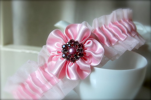Exclusive Handmade Couture Lacy Gems Garters | by Diy Gifts Studio