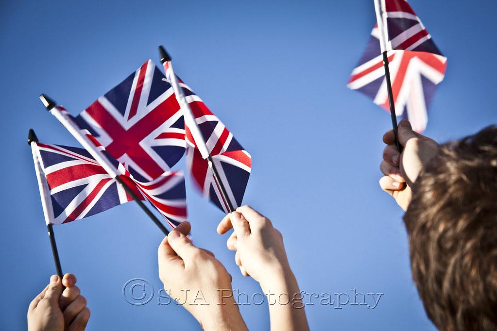 People waving Union Jack Flags | People waving Union Jack Fl… | Flickr
