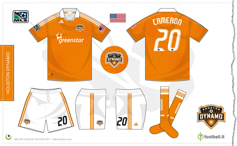 best sneakers 2097a e1bec Houston Dynamo 2011 home kit | Sergio Scala | Flickr