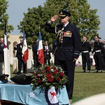 110419 Chief of Air Force, Air Marshal Mark Binskin, AO salutes Flight Lieutenant Henry %u2018Lacy%u2019 Smith as a final mark of respect