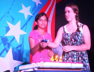 2010: Celebrating American Independence Day at American Center, New Delhi
