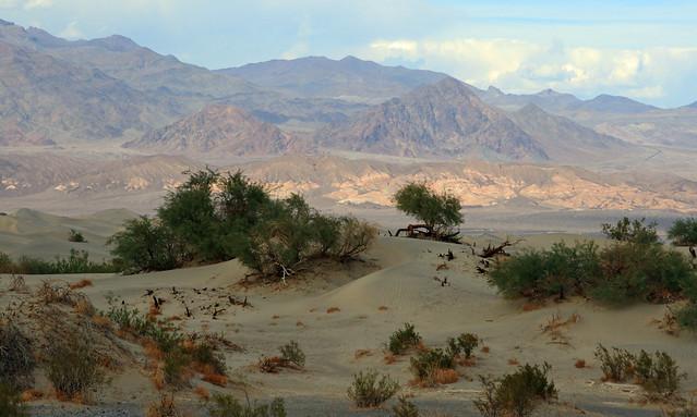 Evening creeping into Death Valley