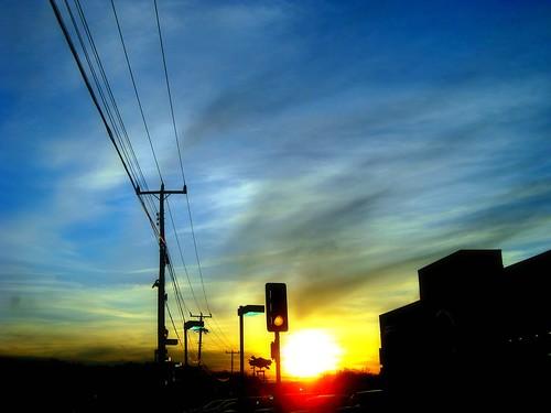 light sunset color sunshine dcist trafficlightlines flipmode79
