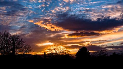 sunset silhouette clouds nikon elpaso d90