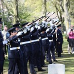 110419 Members of Australia%u2019s Federation Guard fires three volleys in salute at Flight Lieutenant Henry %u2018Lacy%u2019 Smith%u2019s funeral service at the Ranville War Cemetery, France