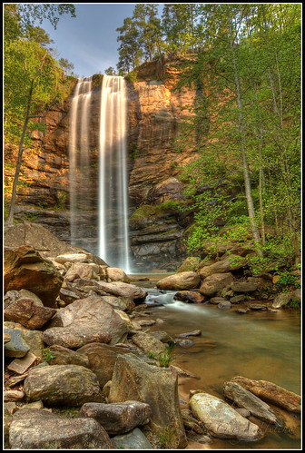 longexposure blue trees brown green georgia waterfall spring rocks hdr tokina1224mm toccoafalls canon40d