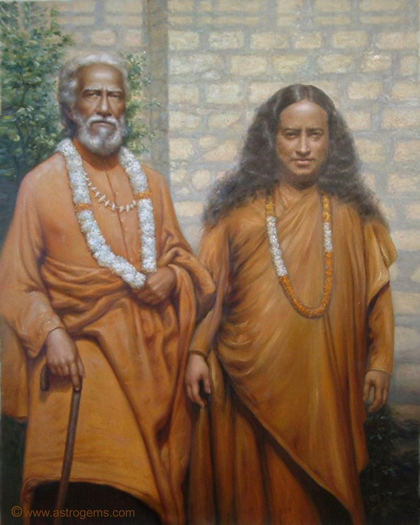 Paramahansa Yogananda 11 With His Guru Swami Sri Yuktesw Flickr