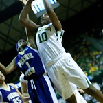 Robin Jones #25, Brittney Griner #42, Dominique Smith #1, Destiny Williams #10