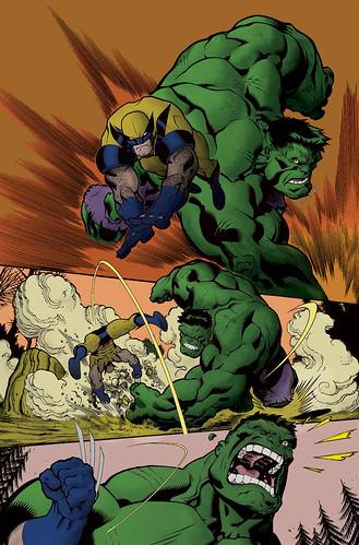 Wolverine vs. Hulk   by ciscai