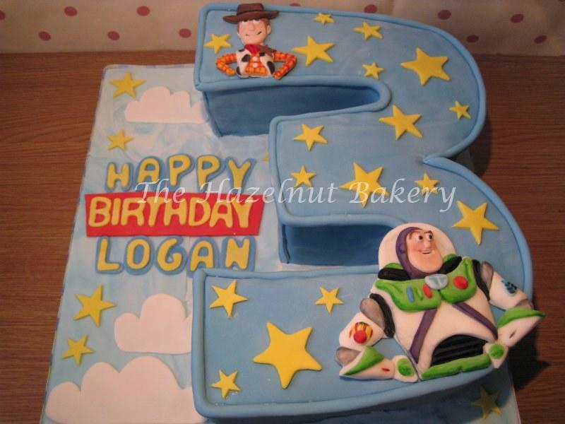 Swell Toy Story 3Rd Birthday Cake Sm The Hazelnut Bakery Flickr Personalised Birthday Cards Veneteletsinfo