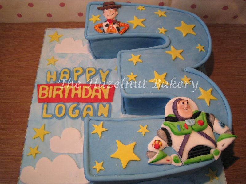 Astounding Toy Story 3Rd Birthday Cake Sm The Hazelnut Bakery Flickr Funny Birthday Cards Online Overcheapnameinfo