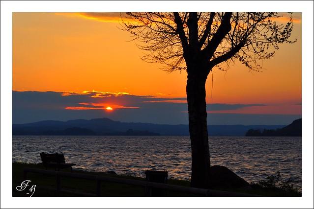 Lago di Bolsena: Quando tramonta il sole