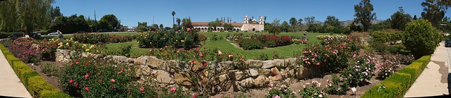 K4287764_9 110428 Santa Barbara A C Postel Rose Garden ICE rm stitch98