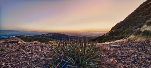 sunrise landscape hiking santamonicamountains