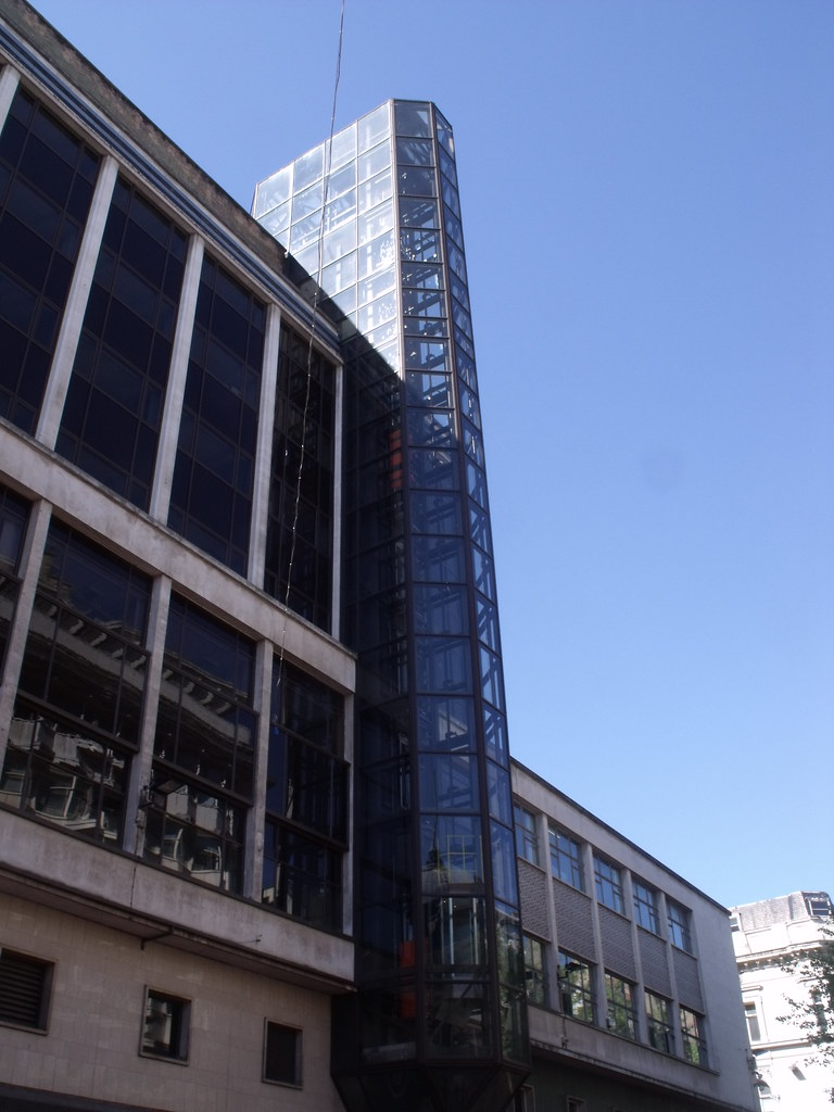Glass lift tower - Woolworth Building, New Street, Birming