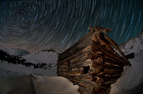 longexposure sky mountain mountains boston night stars cabin colorado mine alpine ghosttown rockymountains allrightsreserved summitcounty startrails polaris northstar mayflowergulch coloradocaptures startrailstacking mikeberenson copyright2011bymikeberenson