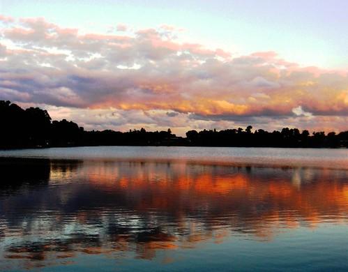 travel pink light sunset lake reflection nature weather photo time florida south meditation carrollwood