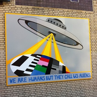 We are humans but they call us aliens. / Project by T.W. Five and the Luggage Store Gallery | by E Steuer