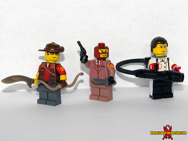 LEGO TF2: Sniper, Spy Medic | The Support classes: Sniper, S