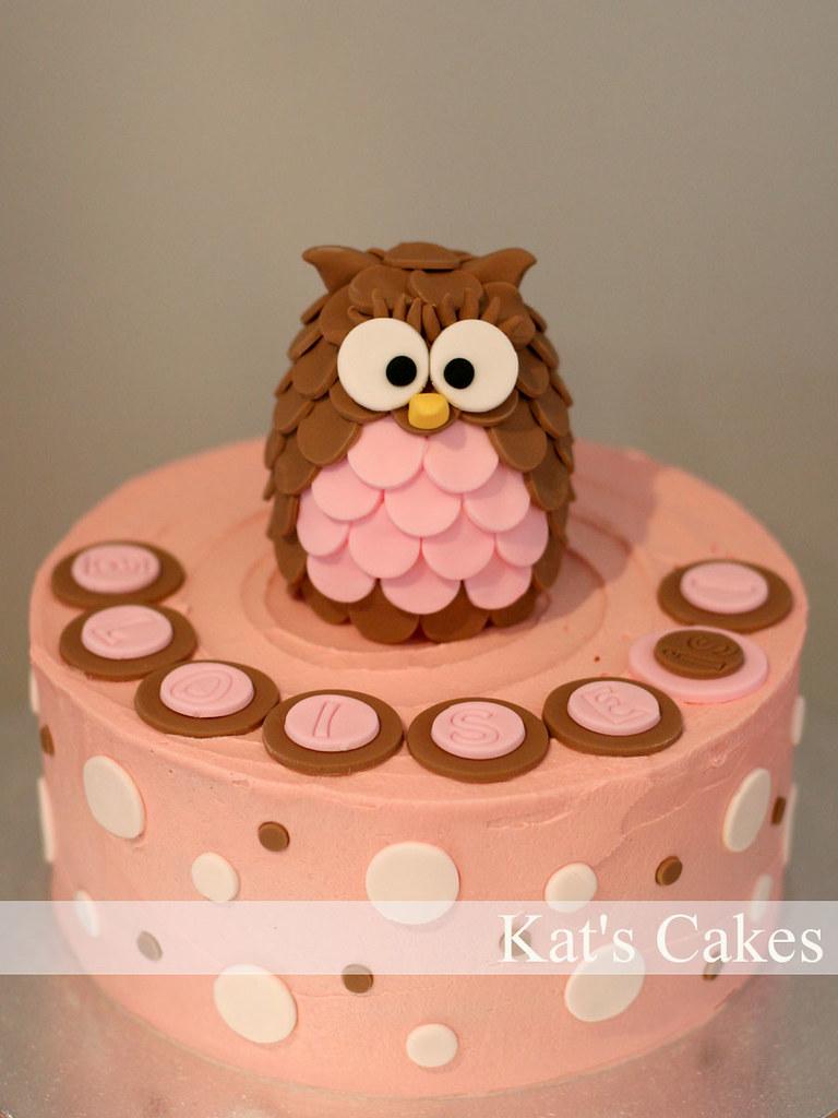 Cool Owl Cake 1St Birthday Owl Cake Theme Owls Polka Dots Ca Flickr Personalised Birthday Cards Akebfashionlily Jamesorg