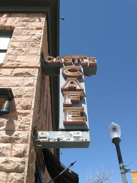 Castle Cafe Bar sign