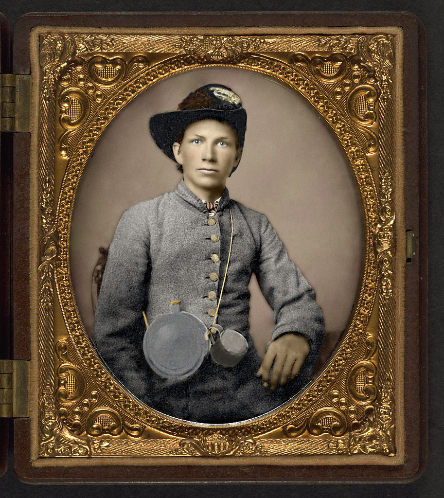 Unidentified young soldier in Confederate shell jacket, H… | Flickr