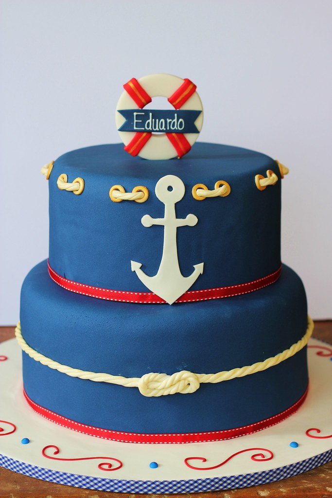 Magnificent Nautical Birthday Cake Isa Flickr Funny Birthday Cards Online Sheoxdamsfinfo