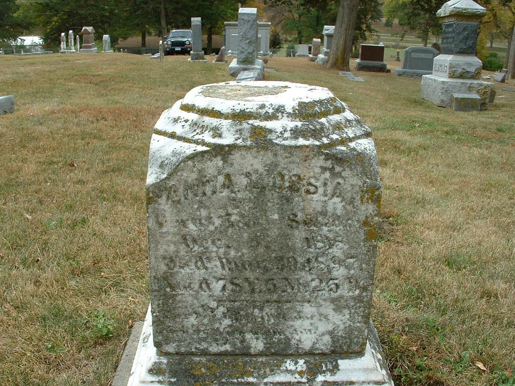 Mamrelund Cemetary - Anna Louisa Ossian - North side of headstone