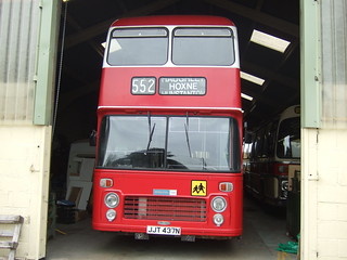 Former Wilts & Dorset Bristol VR JJT 437N seen in a shed in Essex