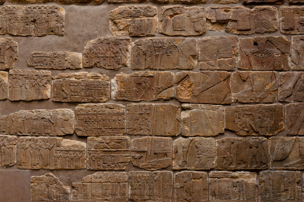 Red sandstone relief from the pyramid chapel of Queen Shanakdakhete 2nd century BC.  The British Museum allows photo shooting providing there is no financial gain.  Please respect their policy
