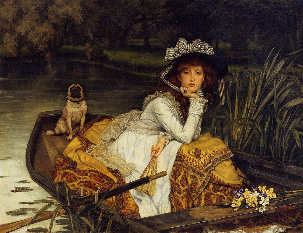 James Tissot - Young Woman in a Boat [1870] | Tissot is ...