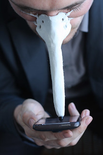 Finger-nose Stylus for Touchscreens | by Dominic Wilcox