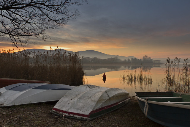 Boats in Annone Lake