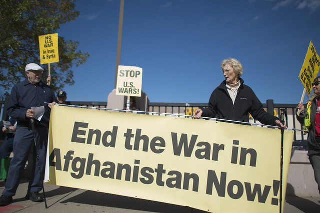Protest against U.S military interventions and endless U.S. wars, Minneapolis, Minnesota, October 8, 2016