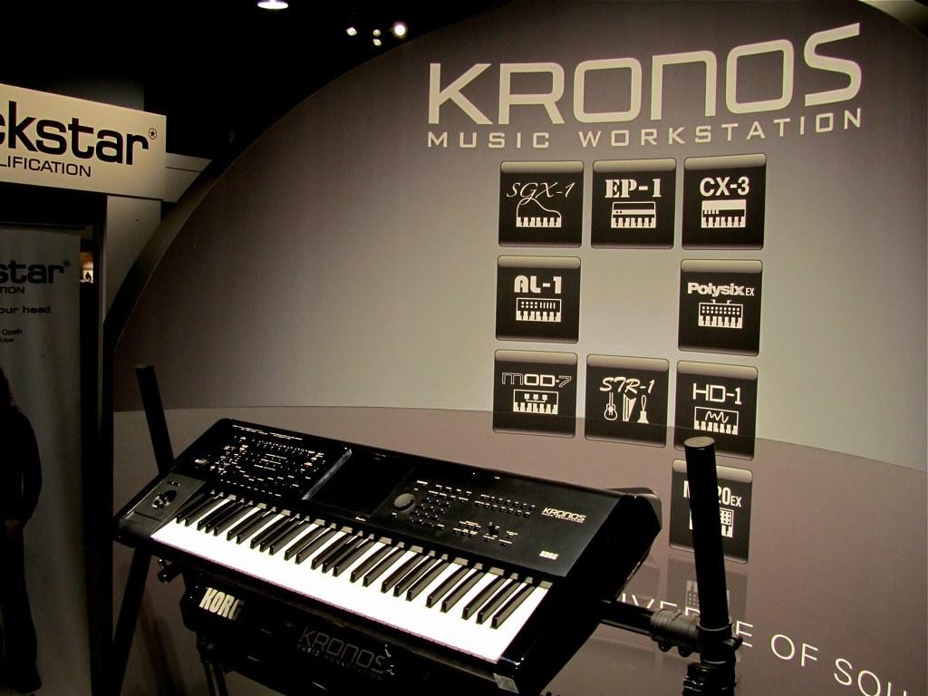 Korg Kronos | The new Korg Kronos workstation at the Korg bo