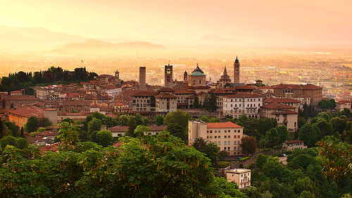 Sunrise at Bergamo old town, Lombardy, Italy | by Eric Hossinger