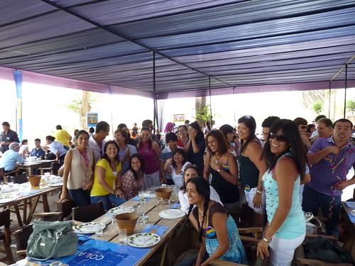 Almuerzo de confraternidad donde participaron los colaboradores de la comunidad UP
