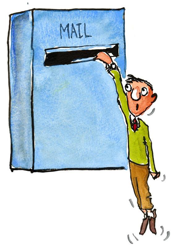 Caught-mail illustration