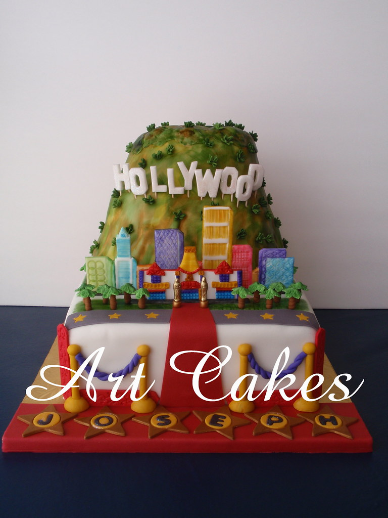 Groovy Hollywood Birthday Cake This Cake Is For A Young Boy 16 Bi Flickr Funny Birthday Cards Online Overcheapnameinfo