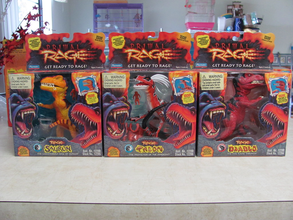 Primal Rage Sauron Talon Diablo Boxed They Did A Very G Flickr