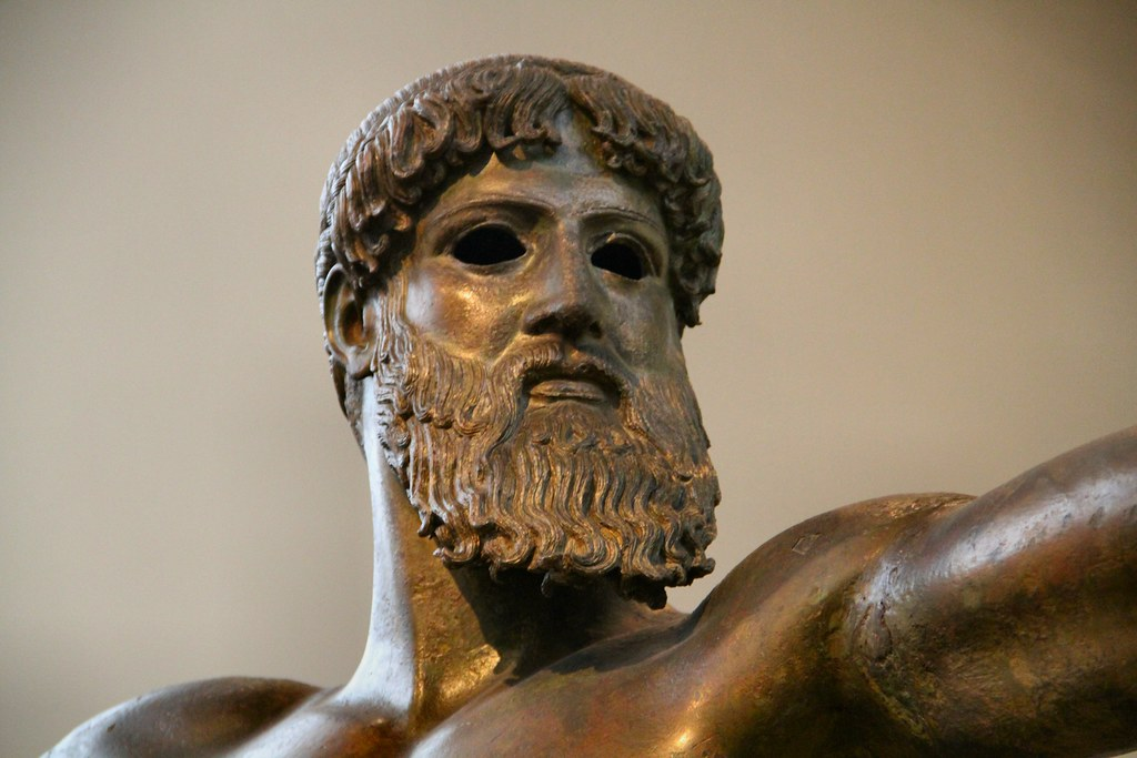 Zeus or Poseidon? | Bronze statue of Either Zeus or Poseidon… | Flickr