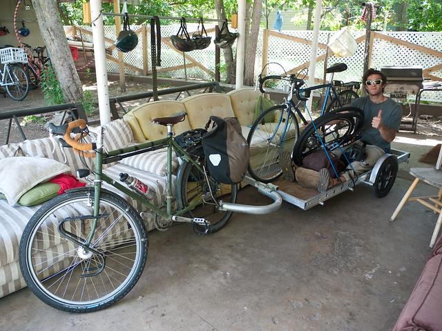 Two dudes, two bikes.