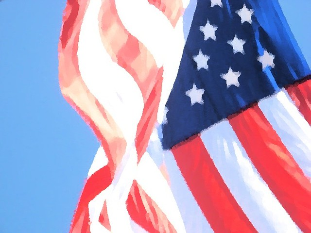 American Flag On The Fourth Of July Happy 235th Birthday