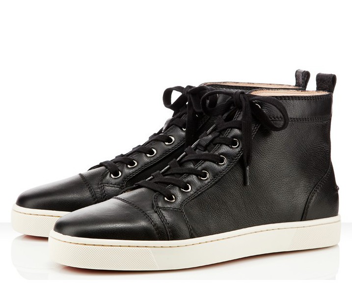 another chance 2eef5 fea3f Christian Louboutin Leather Louis Men Flat Black Best Sale ...