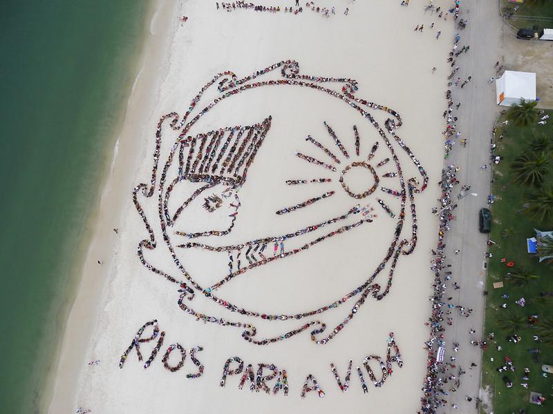20120619 反美山水壩 stop Belo Monte- 人體拼圖
