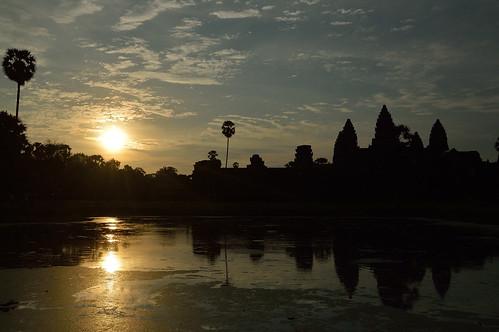 sunrise cambodia angkor wat pwpartlycloudy