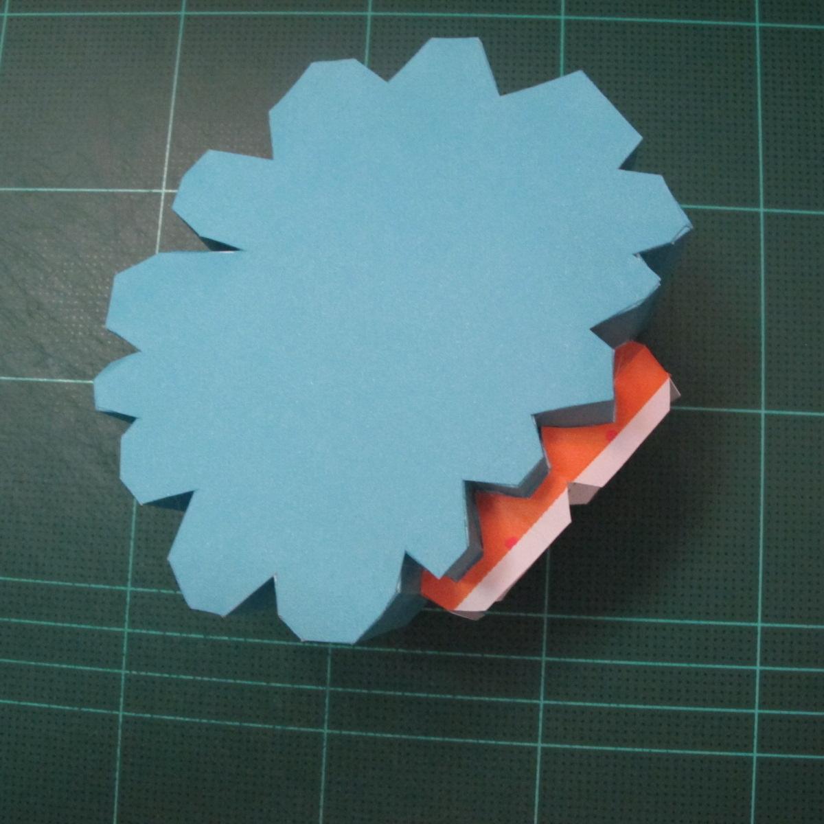 วิธีทำโมเดลกระดาษคุกกี้รัน คุกกี้รสเมฆ (Cookie Run Cloud Cookie  Papercraft Model) 002